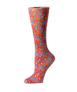 Cutieful Therapeutic Compression Socks - Bright Paisley - $12.95