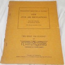 1945 NEW CIVIL AIR REGULATIONS EXAMINATION QUESTIONS AND ANSWERS BOOK A1 - $12.99