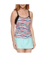 Splashletics Striped Tankini Swimsuit Top Size S, M, XL New Msrp $48.00 - $21.99