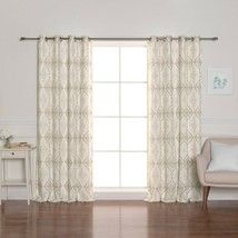Linen Blend Grommet Blackout Curtains Livingroom Bedroom Diningroom Home... - $54.95