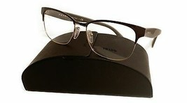 Prada Women's Gray Brown Gold Glasses with case VPR 65R DHO-1O1 55mm - $209.99