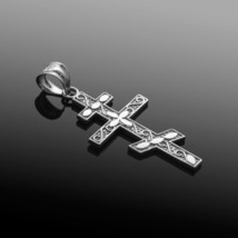 925 Silver Sterling Russian Orthodox Cross Pendant Necklace - €17,12 EUR+