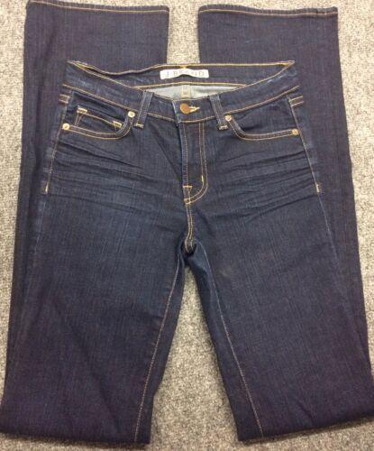Anthropologie Women's J BRAND Jeans Dark Wash Boot Stretch Mint Long Size 25
