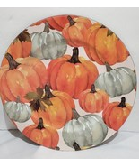 Thanksgiving Fall Harvest Pumpkin Chargers Plates Set of 4 NEW - $44.99