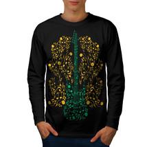 Bass Guitar Rock Music Tee Instrumental Men Long Sleeve T-shirt - $14.99
