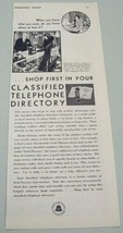 1930 Print Ad Bell System Classified Telephone Directory Vintage Phones - $10.55