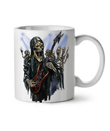 Guitar Metal Badass Skull NEW White Tea Coffee Mug 11 oz | Wellcoda - $15.99