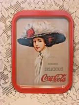 Vintage Coca Cola Tray Hamilton Girl Coke Advertising 1971  - $12.19