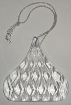 HERSHEY KISSES CRYSTAL ORNAMENT Christmas Glass Chocolate lead clear - $9.49