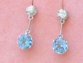 ART DECO .26ctw EURO DIAMOND 2-STONE DROP PLATINUM EARRINGS or MOUNTINGS... - $1,781.01