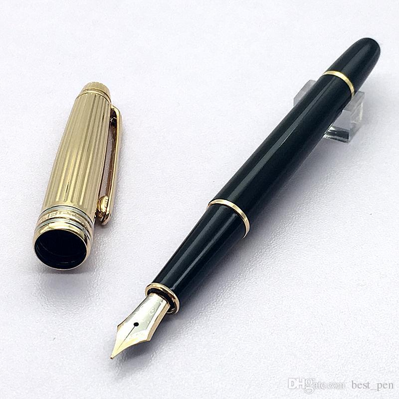 Best pen Luxury Monte M.S.T Black with Gold fountain pen high quality ink conver