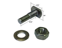 Shower Door T-Bolt, Hex-Nut and Washer for Pivot Shower Doors - $16.33
