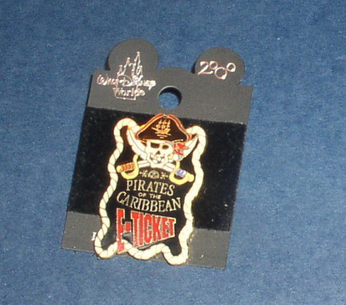 Primary image for Pirates Of The Caribbean E-Ticket Authentic Disney pin on card
