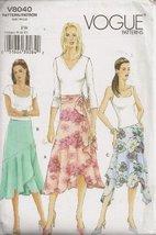 Vogue V8040, Misses' Skirt, Size FW(18-22), OOP - $23.52