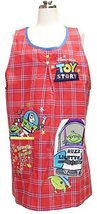 26057202 Motif Pocket Applique Apron Disney Red Toy Story - $58.00