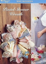 Pastel Shower Wreath TNS Plastic Canvas Pattern Leaflet - $2.22