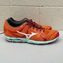 Mizuno Wave Hitogami FCLL402B57 Womens 10 Orange Mesh Athletic Running Shoes - $32.71