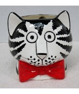 MWT Sigma B Kilban Cat with Red Bow Tie Coffee Mug Excellent Shape Hand ... - $34.65