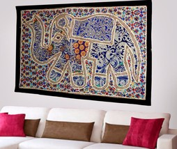 Indian Vintage Cotton Wall Tapestry Ethnic Elephant Hanging Decor Hippie... - $424,58 MXN