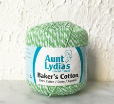 Aunt Lydia's Baker's Cotton Crochet Thread - One Ball Color Green #621 - $5.65