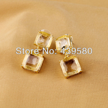 Fashion Crystal Gold Color Earrings - $6.65