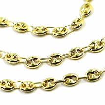 9K YELLOW GOLD NAUTICAL MARINER CHAIN OVALS 4 MM THICKNESS, 24 INCHES, 60 CM image 4