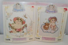 2 DREAMSICLES Counted Cross Stitch Kits, Spring Garland & Teddy and Me - $19.30