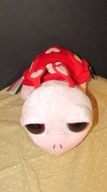 "Applause Russ Berrie Plush Red pink hearts Turtle BiG Eyes soft toy 12"" ... - $14.99"
