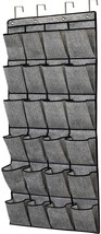homyfort Over The Door Shoe Organizer,Hanging Shoe Holder with 24 Extra Large Fa