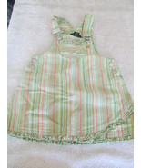 The Children's Place Green & Orange Stripe Overall Style Dress - Size 18... - $4.99