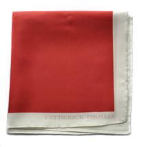 Frederick Thomas 100% Seide Rot Tasche quadratische Taschentuch ft1659 - $20.08