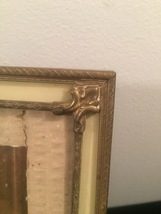 """Vintage 40s silvery gold double ornate 8"""" x 10"""" frame with easel back image 2"""