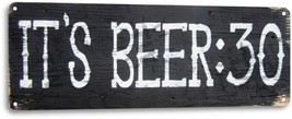 It's Beer Thrity 30 Retro Logo Funny Bar Pub Man Cave Wall Decor Metal T... - $9.99