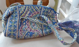 Vera Bradley small duffel style handbag in retired Capri Blue - $24.50