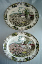 Set (2) Johnson Brothers The Friendly Village / Village Green Serving Platters - $19.50