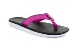 New With Box NIKE Bella Kai Flip Flop Sandals Black/White/Fuchsia Pink C... - $29.87