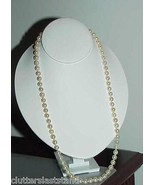 "Antique 7mm Pearl Necklace 18K Gold Clasp 23"" Orient - $890.99"