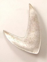 Fabulous Vintage Sterling Silver Modern Brooch By Orb - $44.54