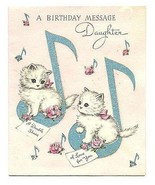 Kittens Cats Card Musical Notes Vintage Norcross Greeting Card Print Gra... - $18.99