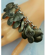 NAPIER Seashell Charm Bracelet Vintage 1960s Signed Clam Oyster Shell Si... - $391.05