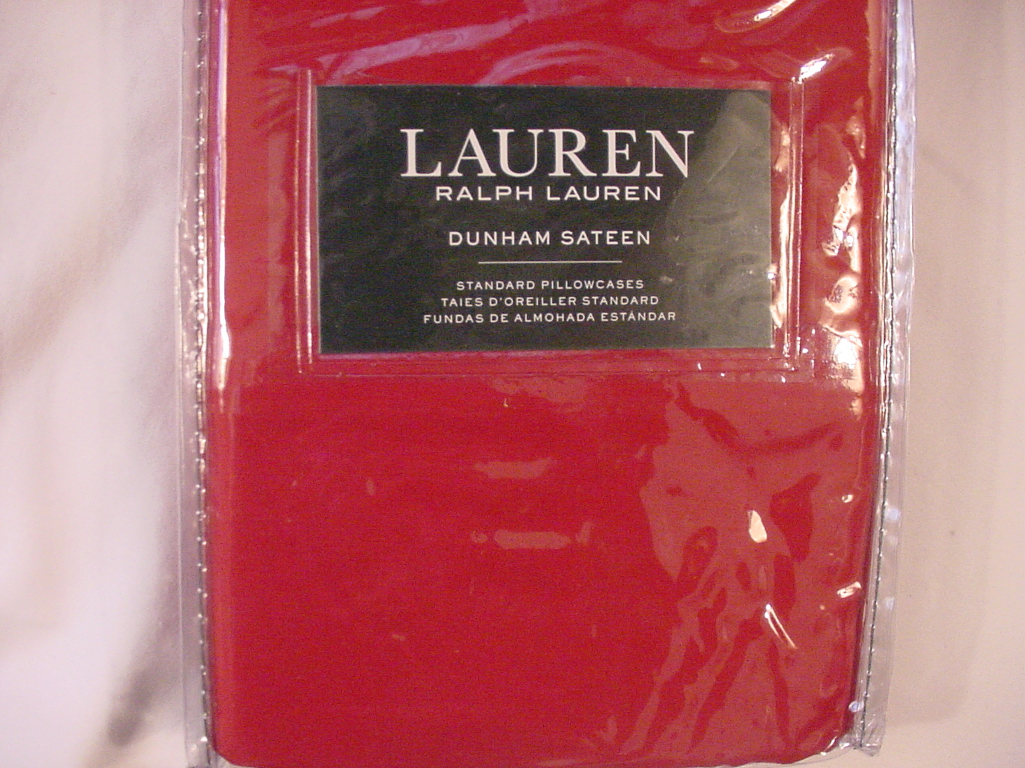 Ralph Lauren Dunham Admiral Red Pillowcases Standard