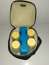 Medela breast milk cooler bag with ice pack with 4 bottles - $7.91