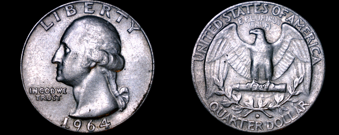 1964-D Washington Quarter Silver