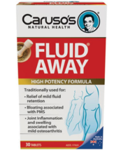 Carusos Natural Health Fluid Away 30 Tablets - $66.50