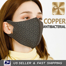 Copper Infused Face Mask Reusable Washable (Made In Korea)_NEW BLACK - $8.91