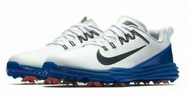 NIKE LUNAR COMMAND 2 GOLF SHOES WHITE/BLUE/RED SIZE 10 NEW W/BOX (849968-103)  image 3