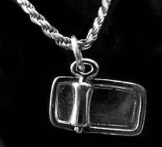 NICE Cat or Dog pet can Food Sterling Silver charm Pendant - $13.38