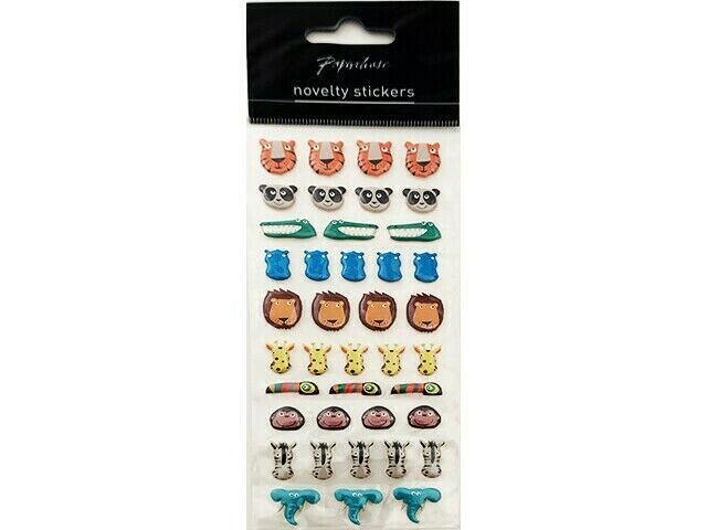 Paperchase Puffy Zoo Animals Stickers #9637028