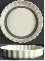 Juniper by PFALTZGRAFF Stoneware, Green & Mauve Large Quiche Baking Widt... - $21.45