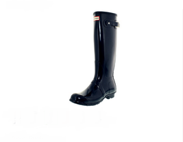 HUNTER Women's Original Tall Gloss Wellies, Navy, Sz 6 - $98.00